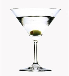 Martini mit Olive